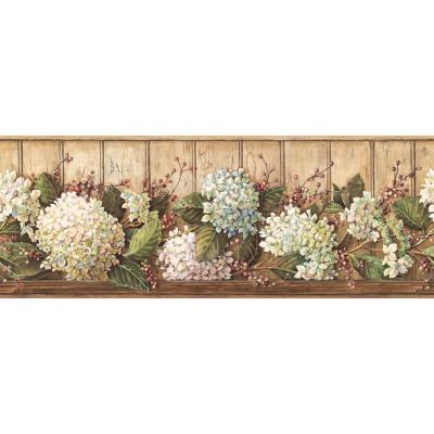 Shop Inspired By Color 9-in Khaki Prepasted Wallpaper Border at Lowes.com