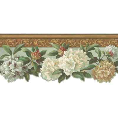 Shop Inspired By Color 9.75-in Multicolor Prepasted Wallpaper Border at Lowes.com
