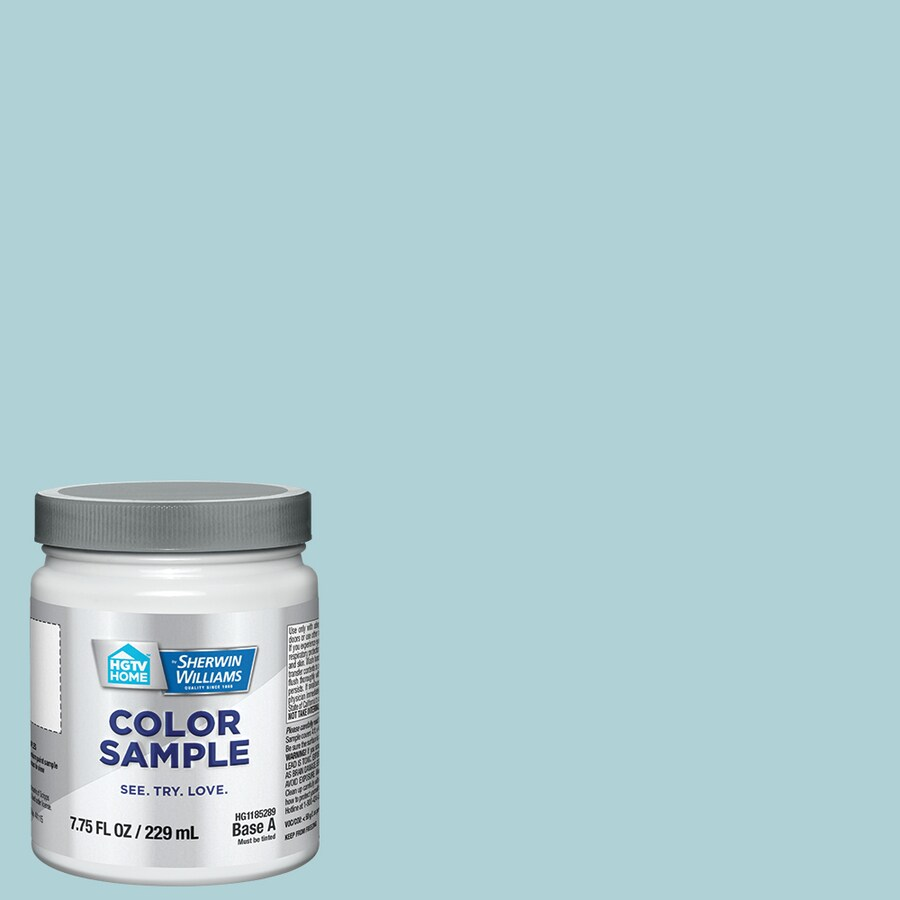 Cool Blue Paint Hgtv Home By Sherwin Williams Cool Laguna Interior Paint Sample