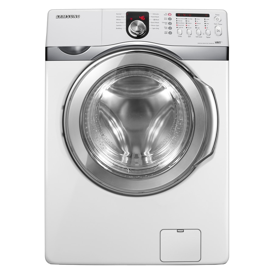 Samsung Front Load Washer Samsung 4 3 Cu Ft Front Load Washer White Energy Star At Lowes