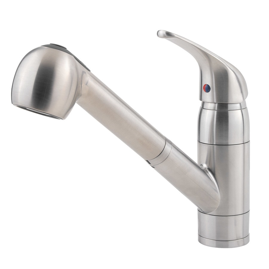 Cool Kitchen Faucet Pfister Pfirst Stainless Steel 1 Handle Pull Out Kitchen Faucet At