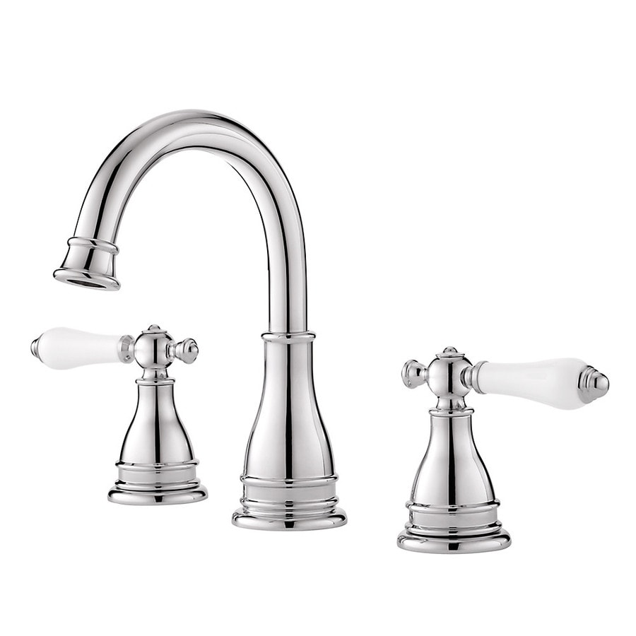 Pfister sonterra polished chrome 2 handle widespread watersense bathroom faucet drain included