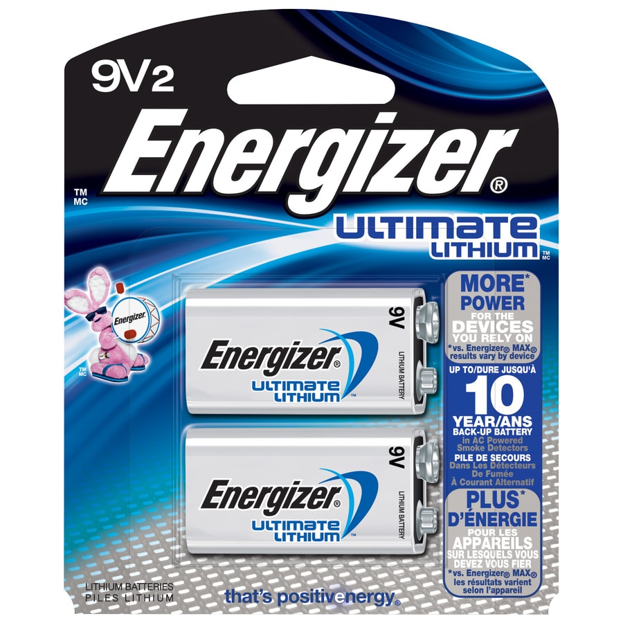 9 Volt Batterie Energizer Lithium 9 Volt Batteries 2 Pack At Lowes