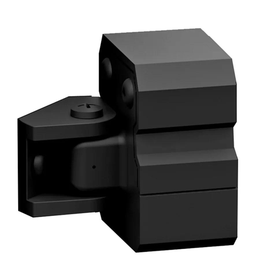 Shop Freedom 4 Pack Black Aluminum Handrail Bracket
