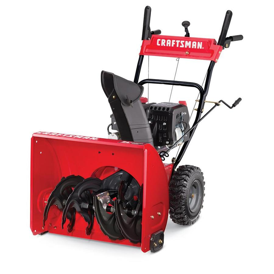Used Snow Blowers Craftsman 24 In Two Stage Self Propelled Gas Snow Blower At Lowes