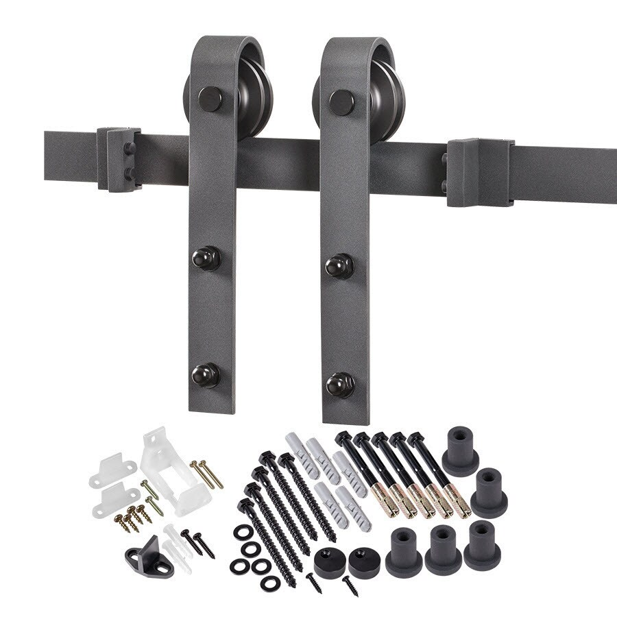 Barn Door Wheels Matte Black Top Mount Barn Door Kit At Lowes