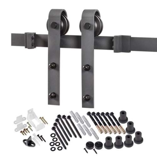 Beautiful Closets Barn Door Kits Menards Matte Black Mount Barn Door Kit Shop Barn Door Hardware At Barn Door Kits