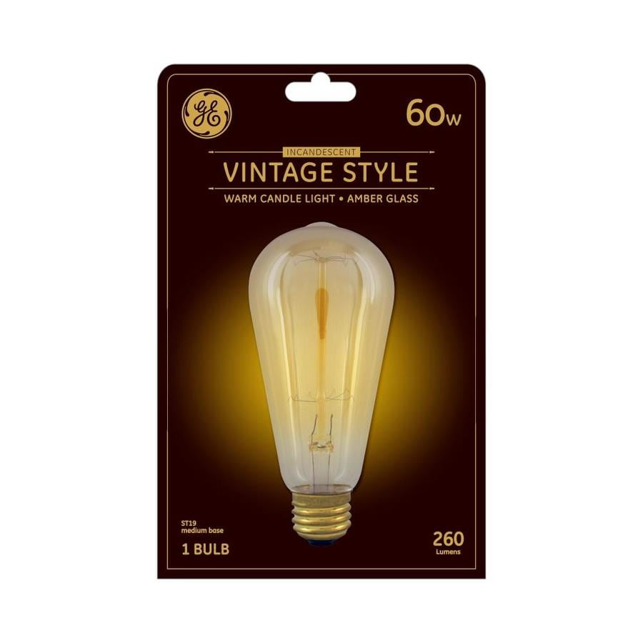 60w Light Bulb Ge Vintage 60 Watt Dimmable St19 Vintage Light Fixture