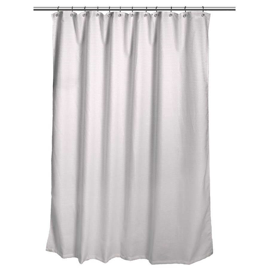 How To Make Shower Curtain Allen Roth Polyester Gray Waffle Patterneded Shower Curtain 70