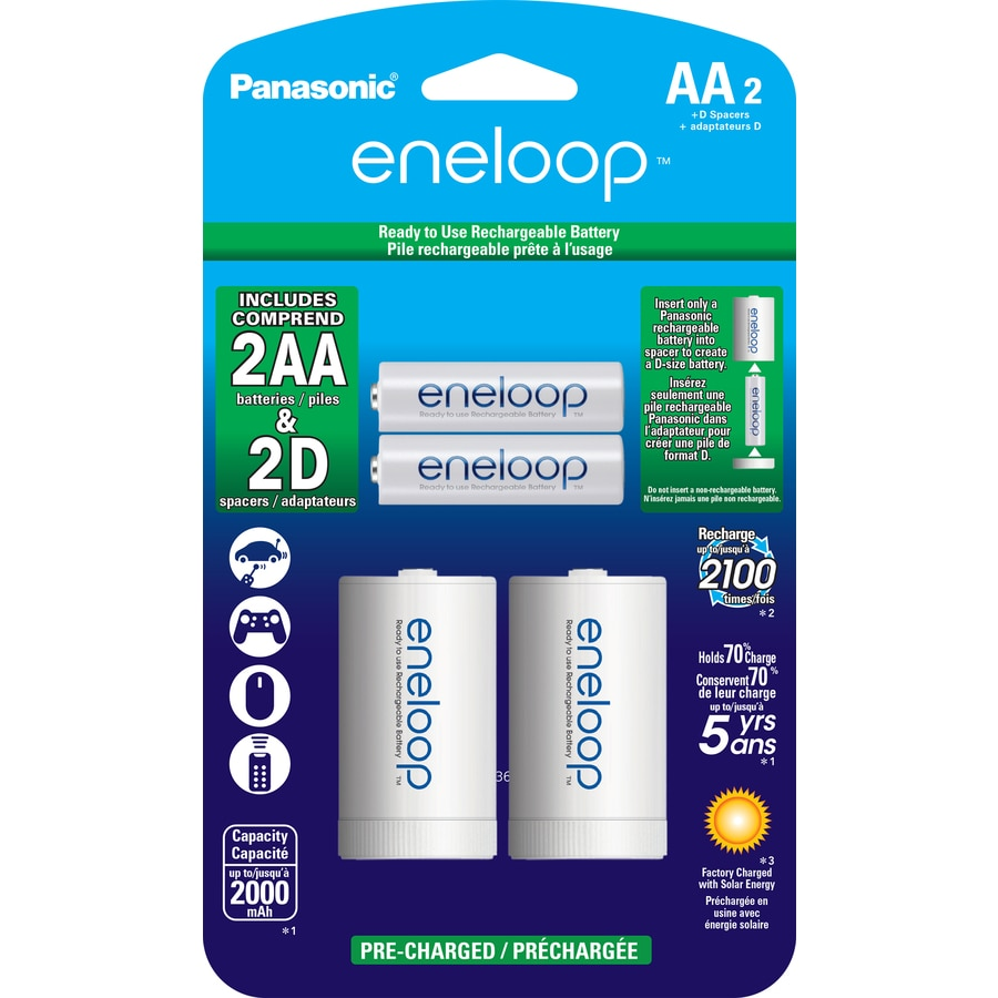 Pile Aa Rechargeable Panasonic 2 Pack Aa Rechargeable Batteries At Lowes