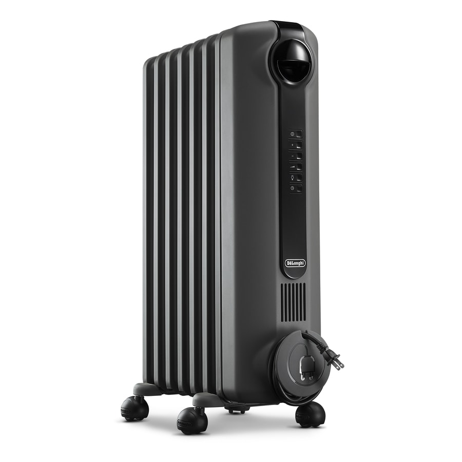 Radiant Heater Delonghi 1500 Watt Oil Filled Radiant Electric Space Heater At