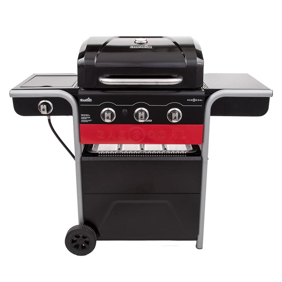 Coal Bbq Char Broil Gas2coal Black Dual Function Combo Grill At Lowes