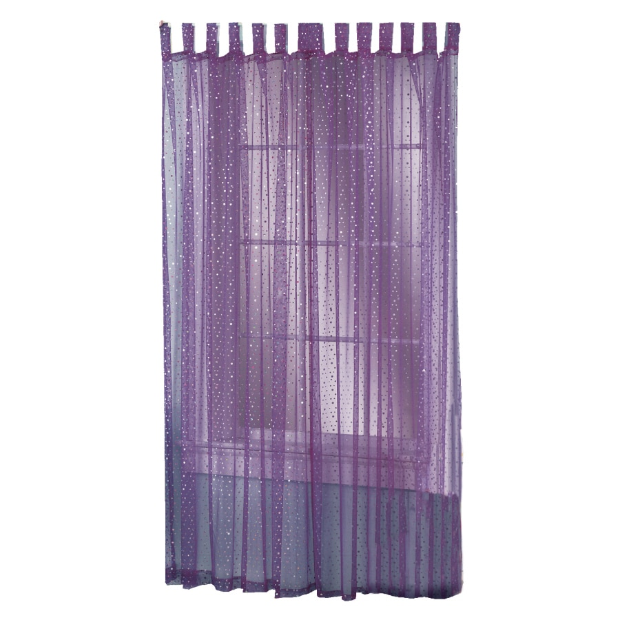 Lavender Sheer Curtains Style Selections Icicle 84 In Purple Polyester Top Tab Sheer