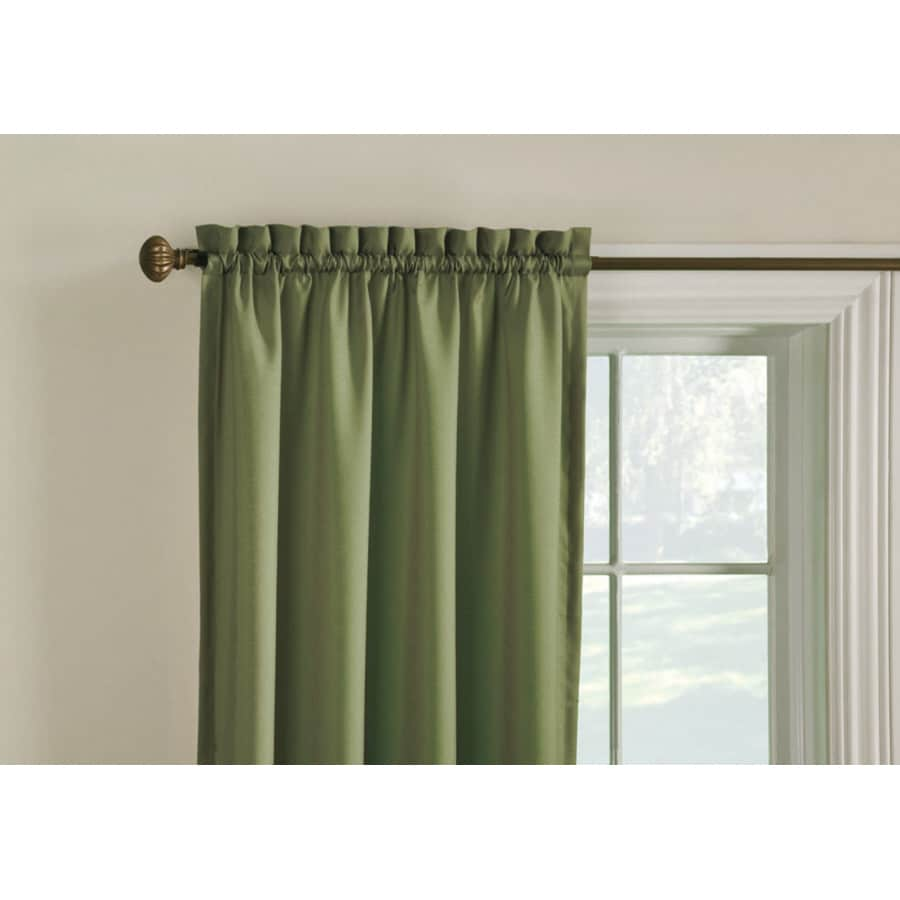 Panel Curtain Rods Style Selections Walker 63 In Artichoke Polyester Rod Pocket Room