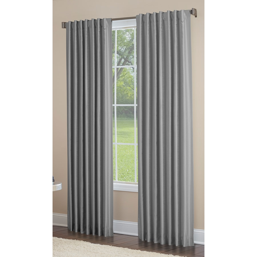 How To Make Lined Curtain Panels Allen Roth Glenellen 84 In Coal Polyester Back Tab Light