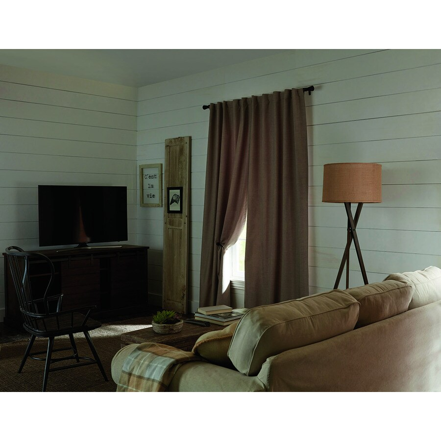 36 Inch Room Darkening Curtains Allen Roth Warwick 84 In Taupe Polyester Room Darkening Thermal