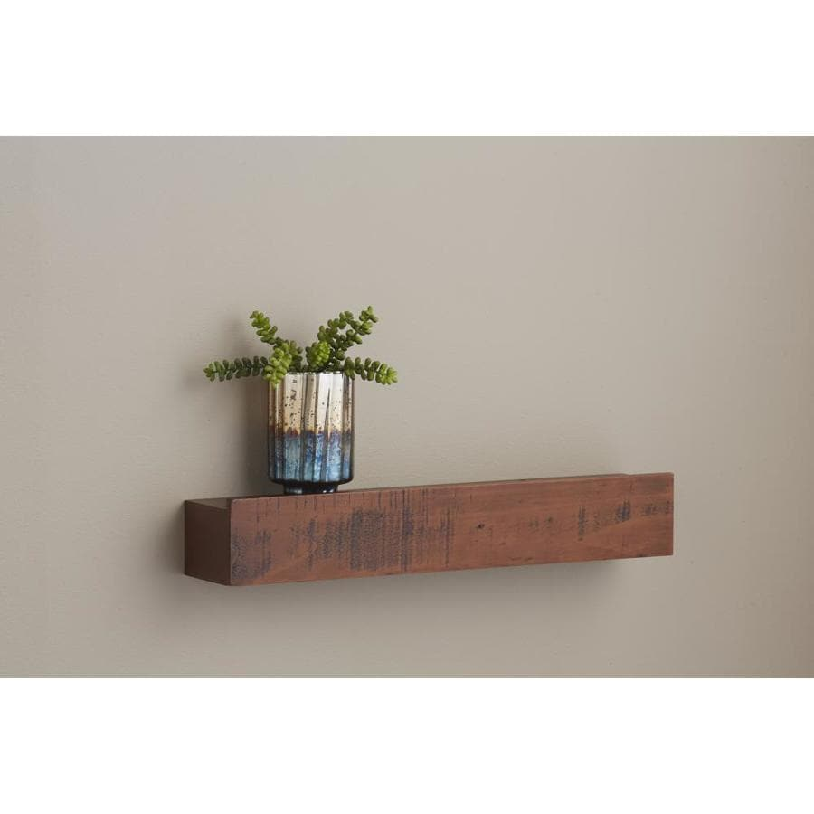 Sleek Allen Roth W X H X Shop Wall Mounted Shelving At Hang Shelf On Wall furniture Hang Shelves On Wall