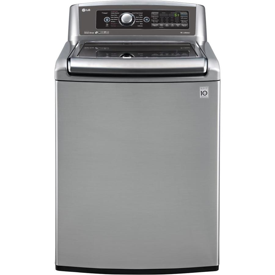 Shop Lg 5 Cu Ft High Efficiency Top Load Washer Graphite Steel Energy Star At Lowes Com - Top Loading Washers