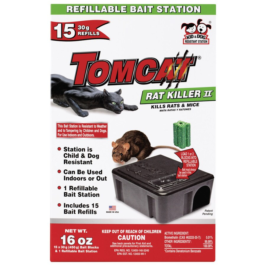 Mouse Bait Boxes Tomcat Rat Killer Ii 16 Count Mouse Bait Station At Lowes