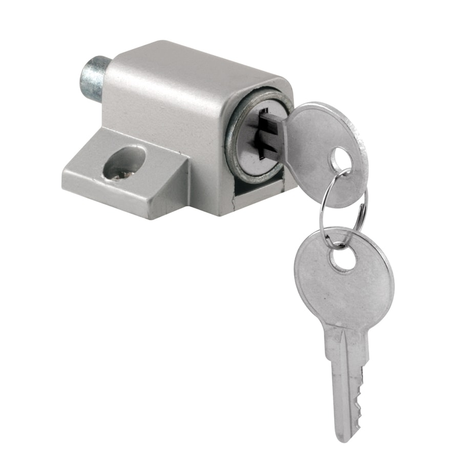 Gatehouse push in keyed sliding patio door cylinder lock