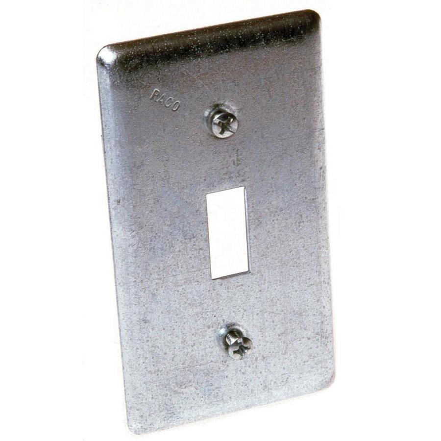 Lowes Appleton Shop Raco 1-gang Rectangle Metal Electrical Box Cover At