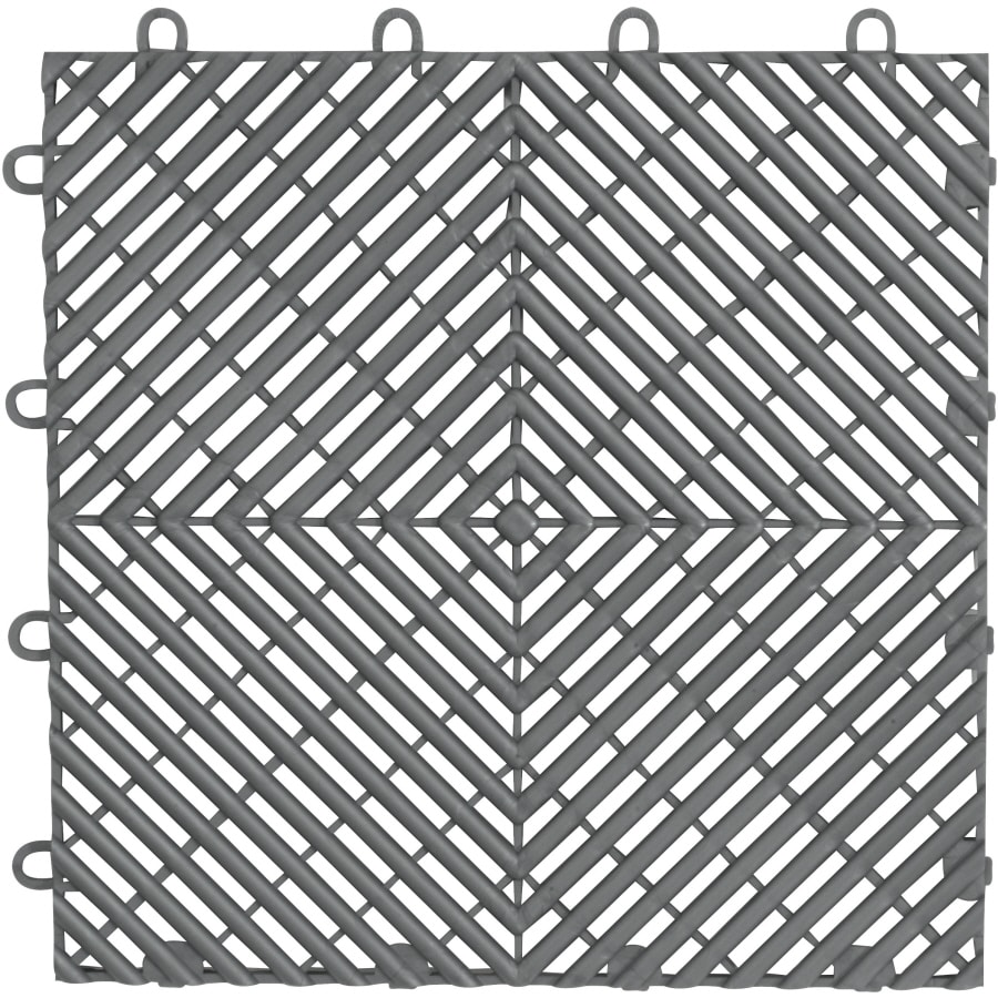 Garage Floor Tiles That Drain Gladiator 4 Piece 12 In X 12 In Grey Tread Plate Garage Floor Tile