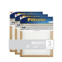 Shop Filtrete 3-Pack Basic Pleated (Common: 16-in x 20-in ...