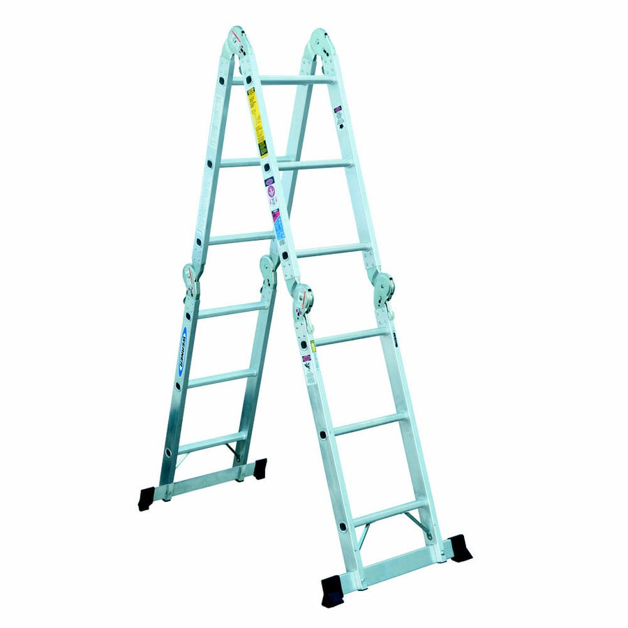 Werner Multiposition Ladder Multi Position Ft Aluminum Lb Werner Aluminum 14-ft Reach Type 1a - 300 Lbs Capacity
