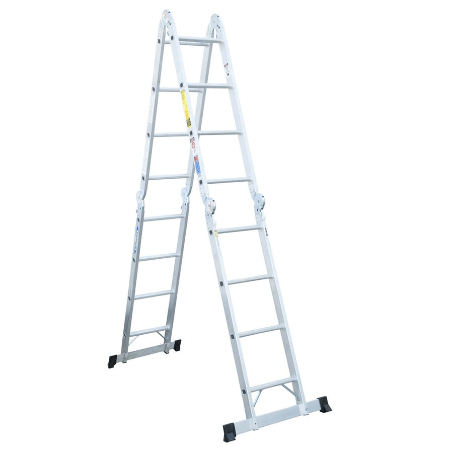Werner Multiposition Ladder Multi Position Ft Aluminum Lb Werner Aluminum 14-ft Reach Type 1a - 300 Lbs. Capacity