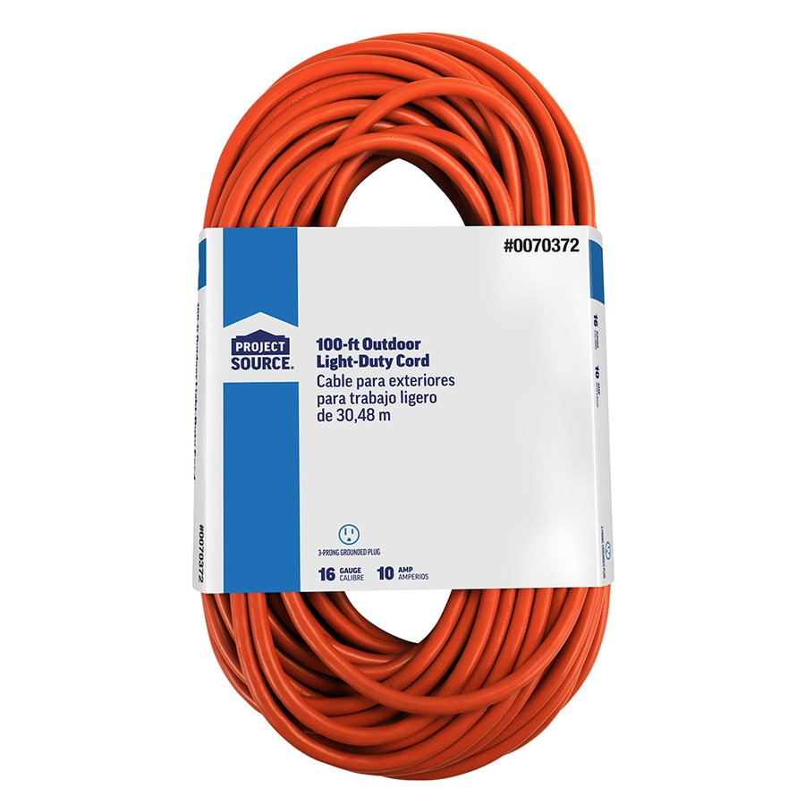 Garage Heater Extension Cord Project Source 100 Ft 16 Awg 3 Sjtw 10 Amps General Extension Cord