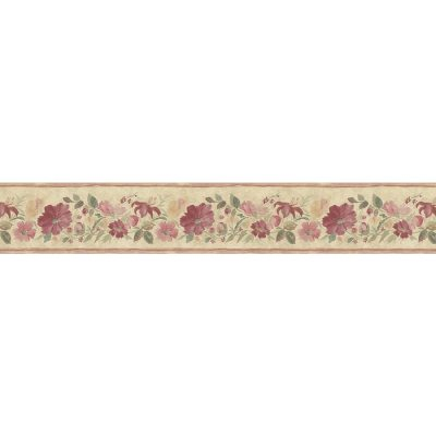 Shop Norwall 5.25-in Red Prepasted Wallpaper Border at Lowes.com
