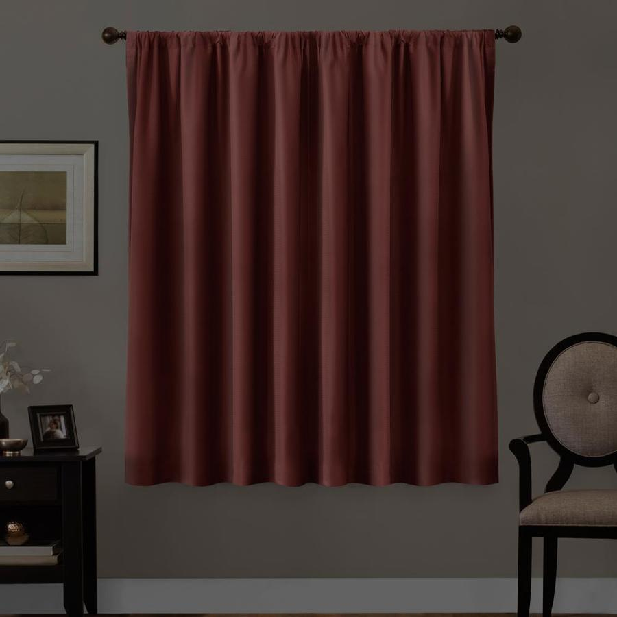 63 In Burgundy Polyester Blackout Thermal Lined Single Curtain Panel In The Curtains Drapes Department At Lowes Com