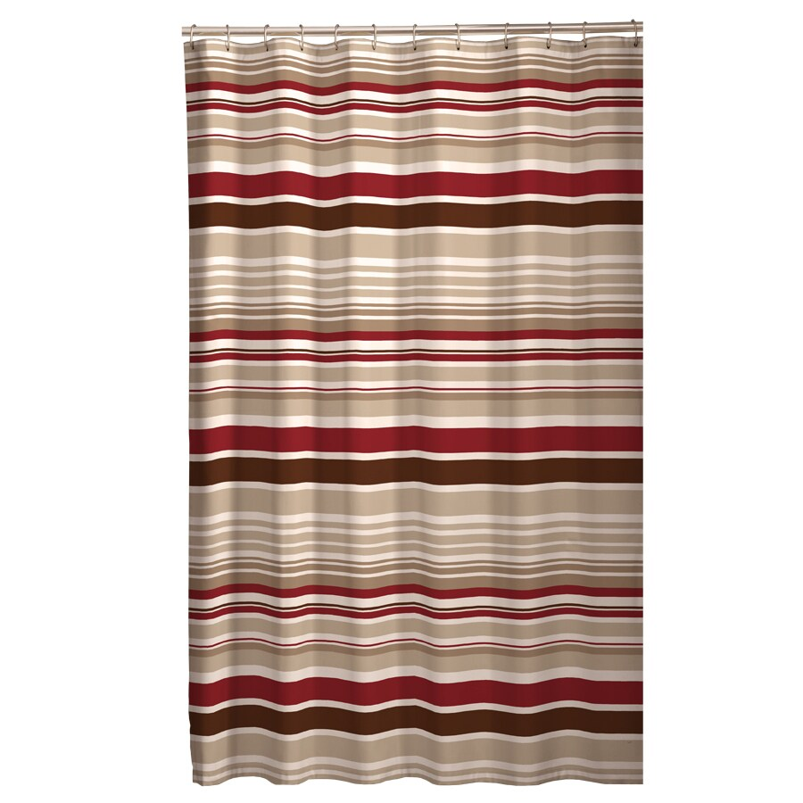 Red And Brown Shower Curtain Meridian Polyester Stripedd Red Brown Stripedd Shower Curtain 70