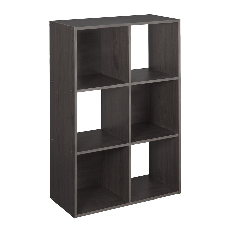 Canadian Tire Book Shelves Closetmaid 6 Compartment Espresso Laminate Storage Cubes At Lowes