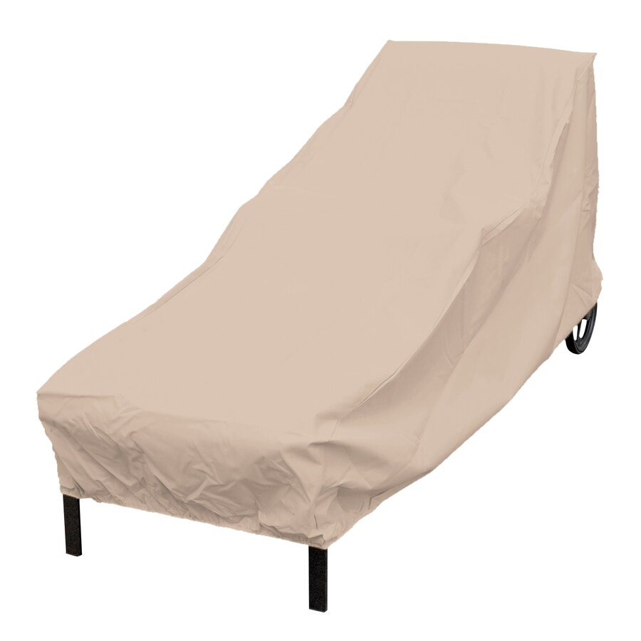 Outdoor Covers Elemental Tan Polyester Chaise Lounge Cover At Lowes
