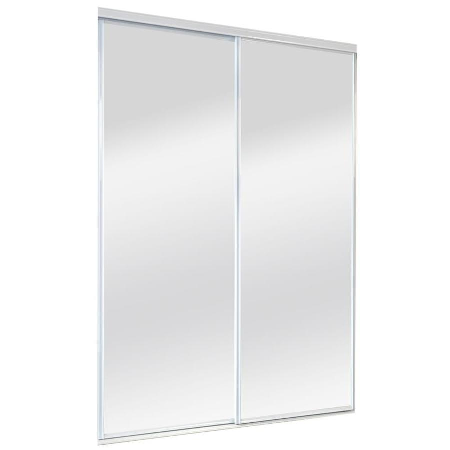 Reliabilt mirror sliding closet interior door common 60 in x 80 in