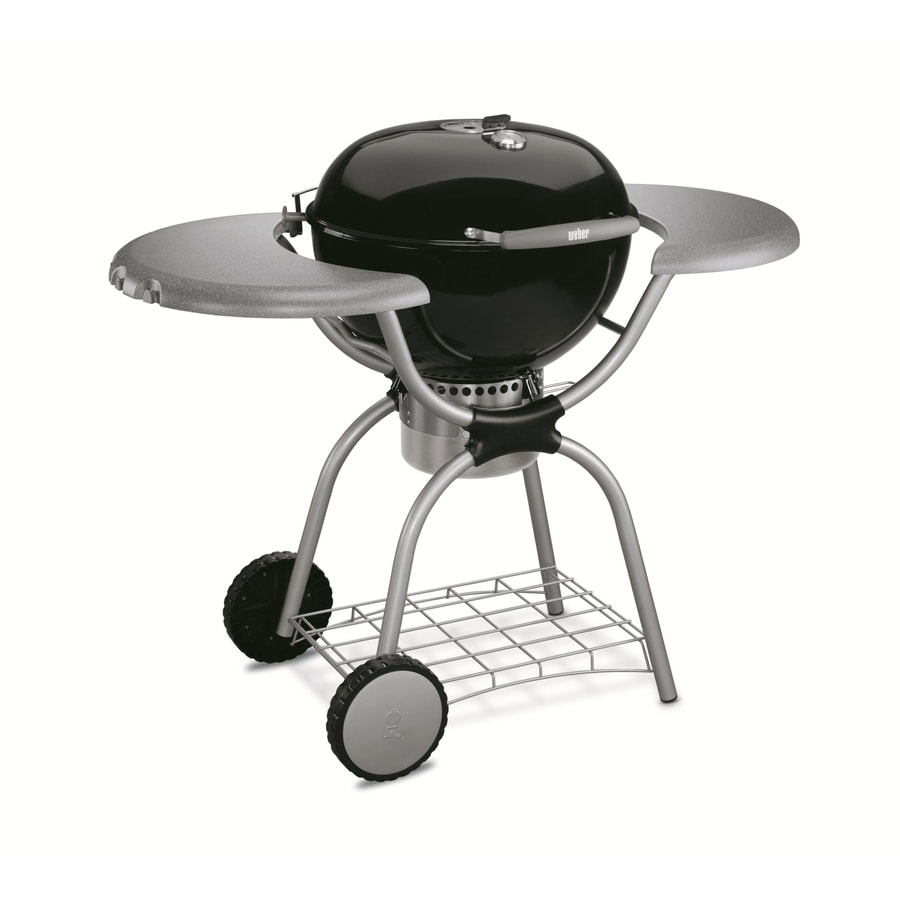 Weber Grill One Touch Weber One Touch Platinum Black Porcelain Enameled Charcoal Grill