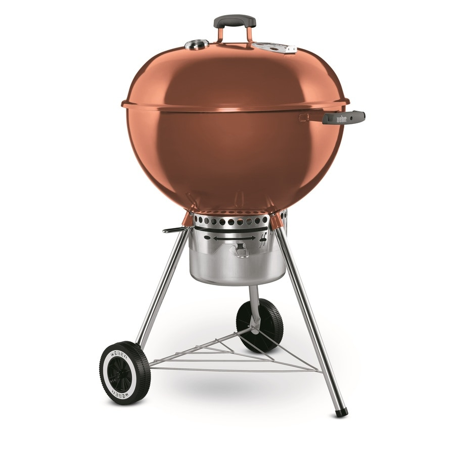 Weber Grill One Touch Weber One Touch Gold 22 5 In Copper Porcelain Enameled Kettle