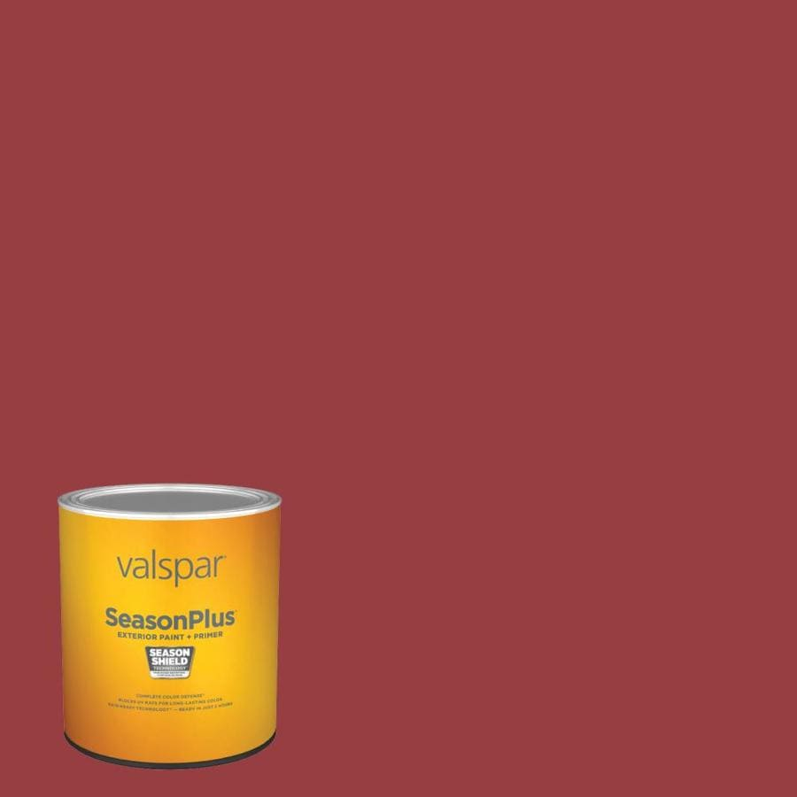 Valspar SeasonPlus Satin Fabulous Red 1011-2 Exterior Paint (1-Quart) in the Exterior Paint department at Lowes.com