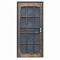 Shop PRECISION Woodguard Oak Steel Security Door (Common ...