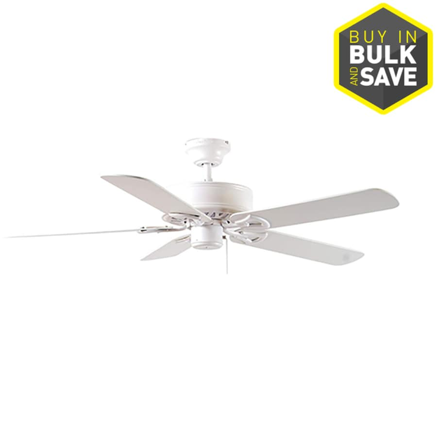 Ceiling Fan Size For Garage Harbor Breeze Classic 52 In White Indoor Ceiling Fan 5 Blade At