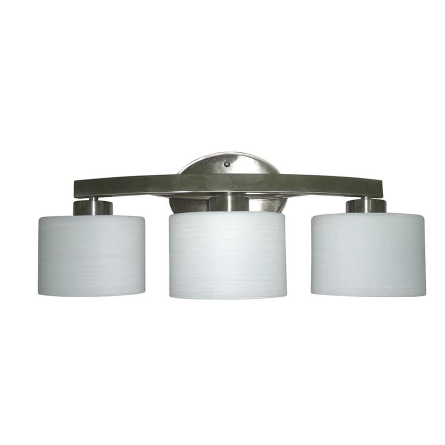 Allen roth merington 3 light 9 in brushed nickel vanity light bar