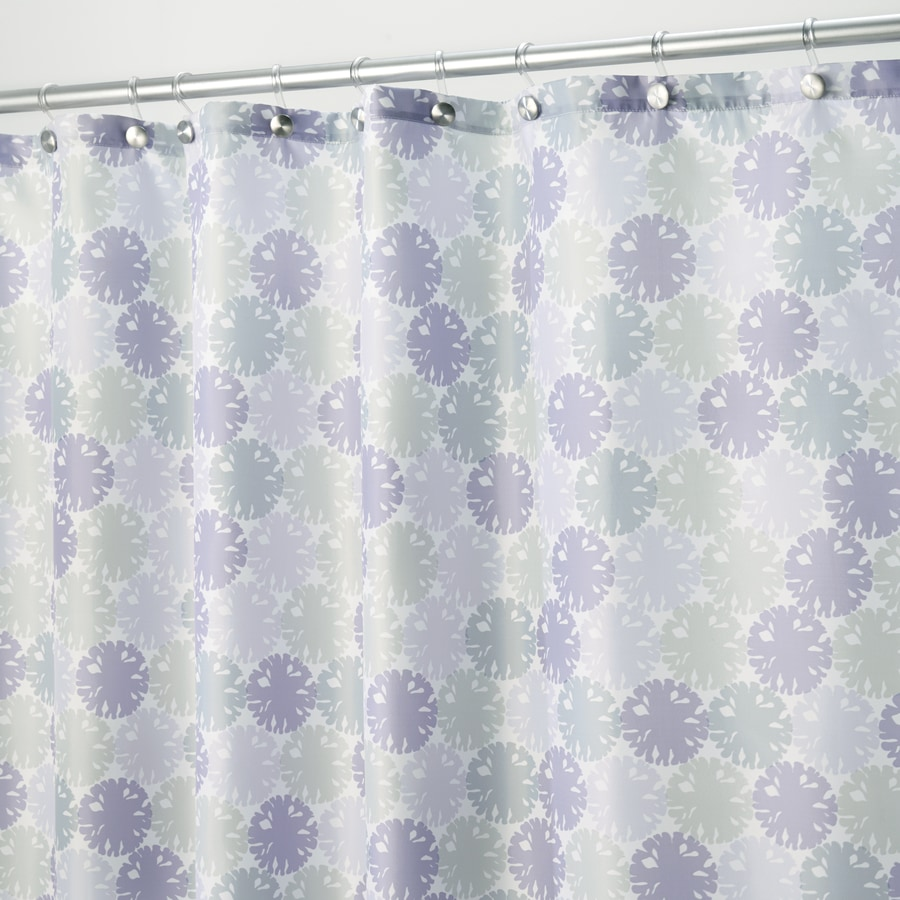 Lavender Shower Curtains Interdesign Everli Polyester Lavender With A Floral Print Floral