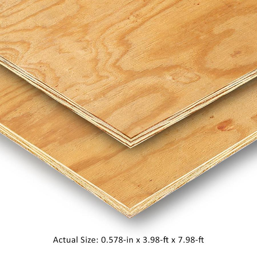 Half Inch Plywood Plywood At Lowes
