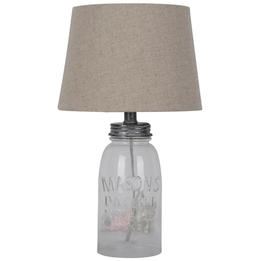 Glass Jar Lamp Shade J Hunt Home Glass Jar Table Lamp At Lowes
