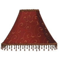 Shop allen + roth 12-in x 16-in Red Fabric Bell Lamp Shade ...