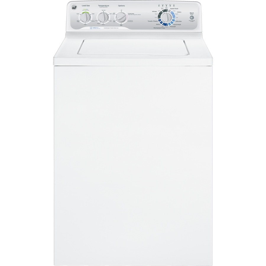 Ge 3 8 Cu Ft Top Load Washer White At Lowes Com - Top Loading Washers