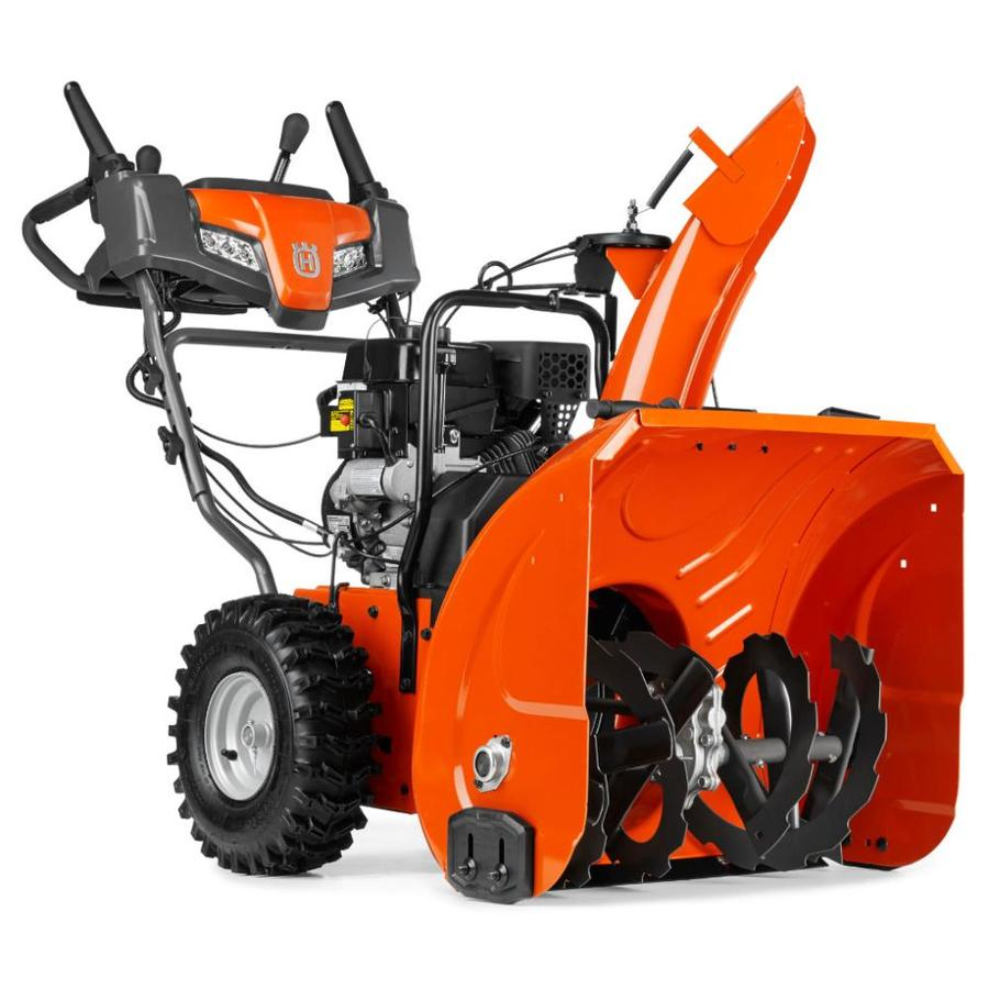 Used Snow Blowers Husqvarna St 224 24 In Two Stage Gas Snow Blower Self Propelled At