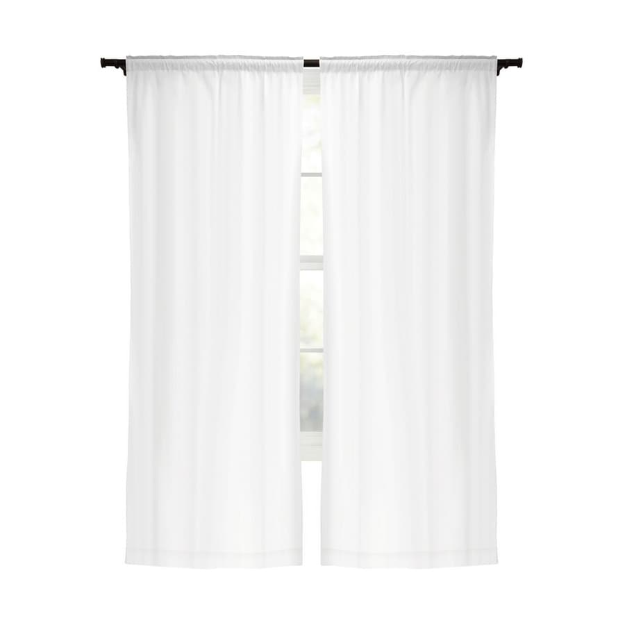 Panel Curtain Rods Style Selections Energy 80 In White Polyester Rod Pocket Blackout