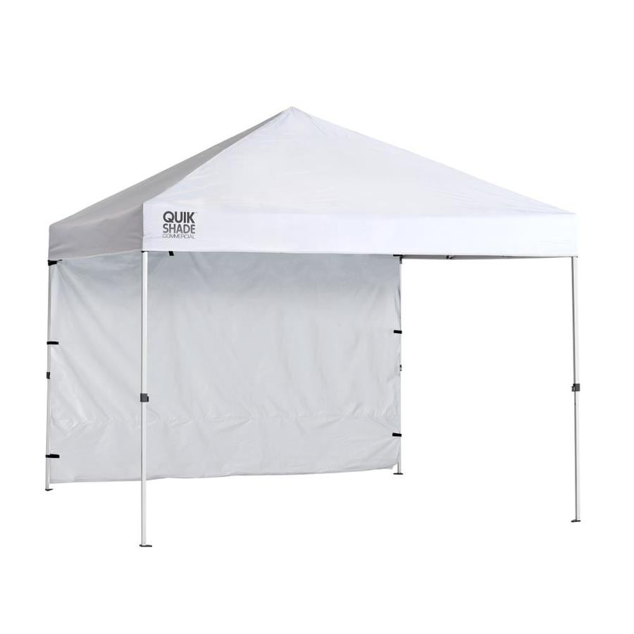 Pop Up Canopy Quik Shade Commercial 10 71 Ft L Square White Steel Pop Up Canopy